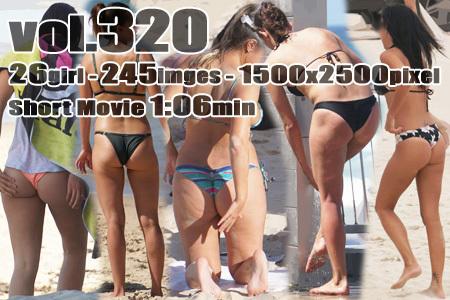 ■ ■vol320-お尻に食い込むTバック&ブラジリアンビキニパンティの外ギャル♪【ショートムービー付】