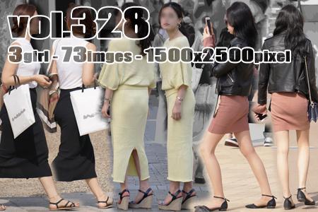 vol328-スレンダーお姉さんのニット素材のタイトスカートが食い込むむっちりヒップライン