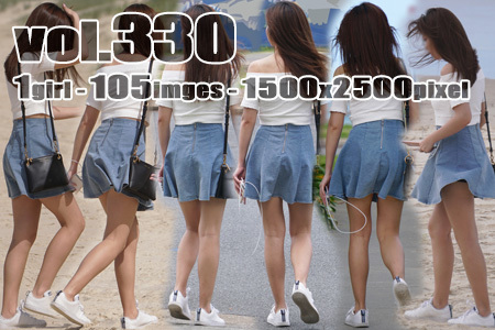 vol330-砂浜を散歩するヒラスカ生美脚のお嬢さん