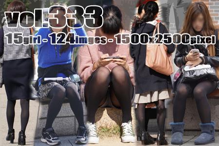 ■ ■vol333-美脚シルエットを際立たせる厚手黒タイツ