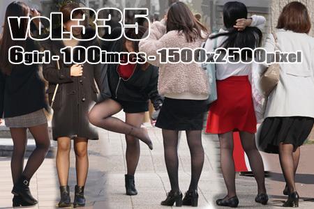 ■ ■vol335-むっちり美脚に履く魅力満点薄手の黒ストッキング