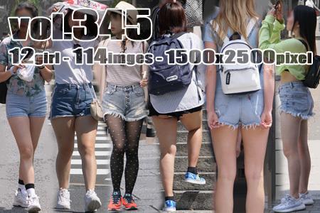 ■vol345-デニムショートパンツ履いたむっちり美脚