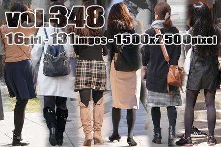 vol348-質感の良い厚手黒タイツの美脚