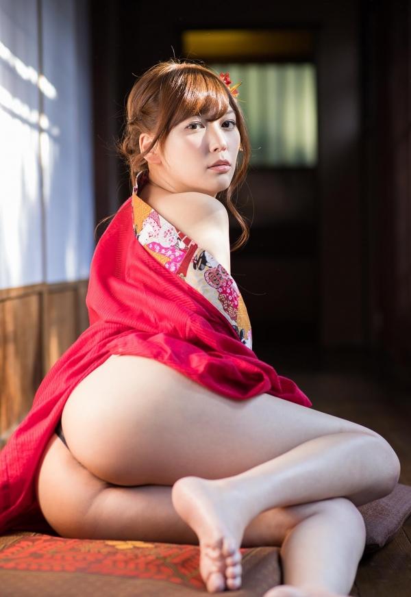 赤い襦袢の美女エロ画像 和装のセクシーランジェリー100枚の02枚目