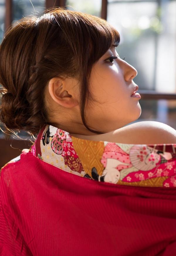 襦袢エロ画像 赤い肌衣の和服美女102枚の07枚目