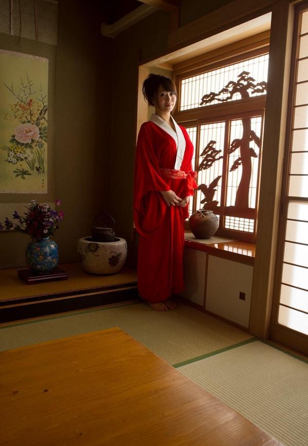 赤い襦袢の美女エロ画像 和装のセクシーランジェリー100枚の21枚目