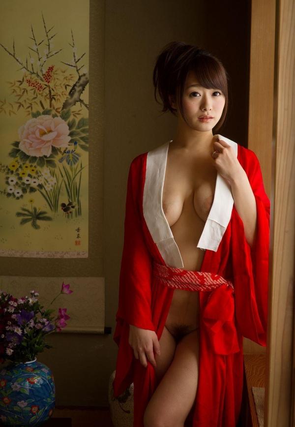 赤い襦袢の美女エロ画像 和装のセクシーランジェリー100枚の26枚目