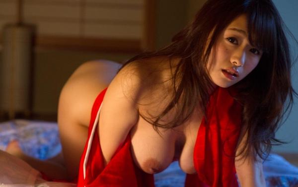赤い襦袢の美女エロ画像 和装のセクシーランジェリー100枚の58枚目