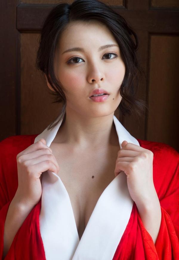 赤い襦袢の美女エロ画像 和装のセクシーランジェリー100枚の71枚目
