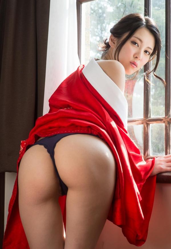 赤い襦袢の美女エロ画像 和装のセクシーランジェリー100枚の75枚目