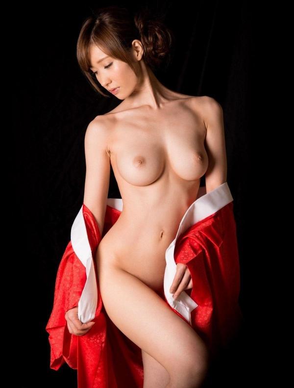 赤い襦袢の美女エロ画像 和装のセクシーランジェリー100枚の90枚目