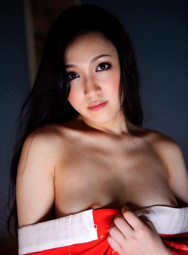 赤い襦袢の美女エロ画像 和装のセクシーランジェリー100枚の101枚目