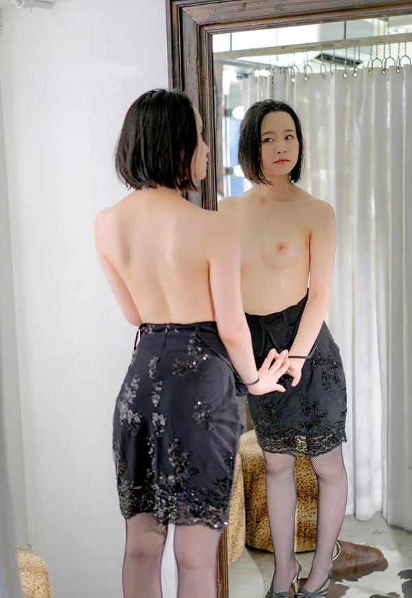 初乃ふみか 極細スリム美巨乳な美少女ヌード画像110枚の103枚目
