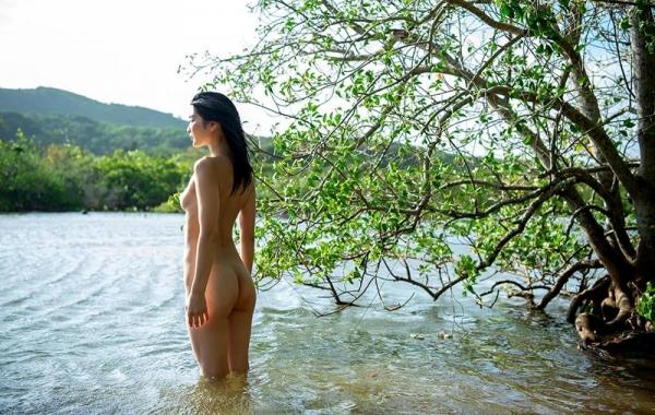 本庄鈴 清楚なスレンダー美人ヌード画像170枚のb134枚目