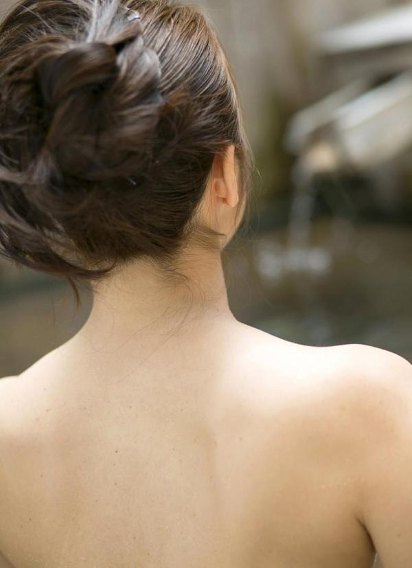 熟女の入浴画像 北条麻妃さん、しっとりと温泉入浴中68枚のb30枚目