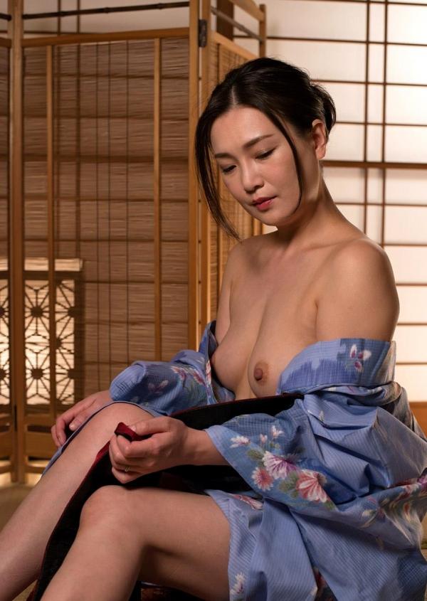 熟女セックス画像 浴衣の妖艶な四十路妻美麗83枚の2