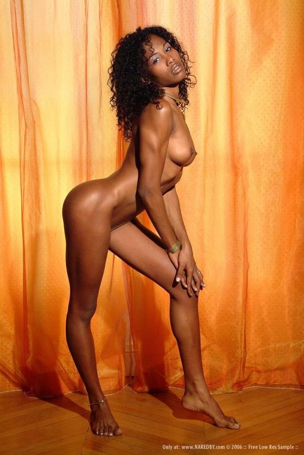 黒人女性のヌード 美しく黒光りする裸の女60枚の008枚目