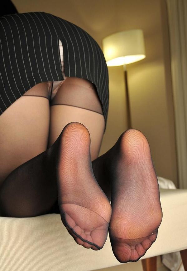 パンストつま先画像 美女の艶っぽい足先足裏60枚の52枚目