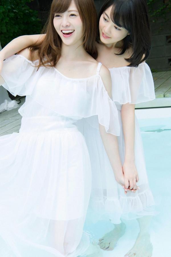 白石麻衣の水着姿と生田絵梨花いくまい仲良しツーショット画像50枚の409番