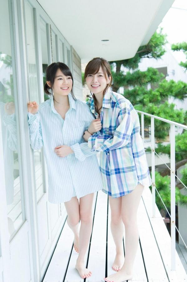 白石麻衣の水着姿と生田絵梨花いくまい仲良しツーショット画像50枚の416番