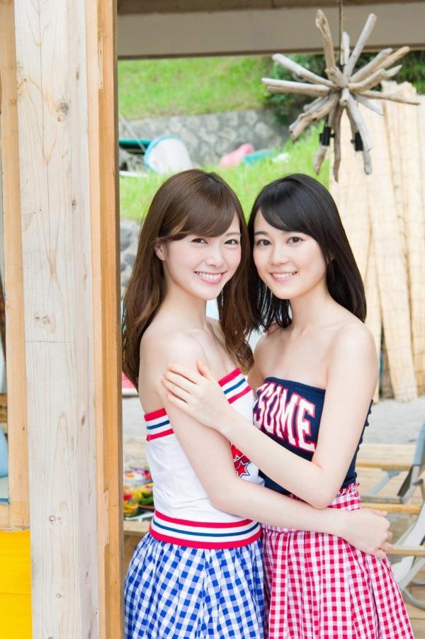 白石麻衣の水着姿と生田絵梨花いくまい仲良しツーショット画像50枚の419番