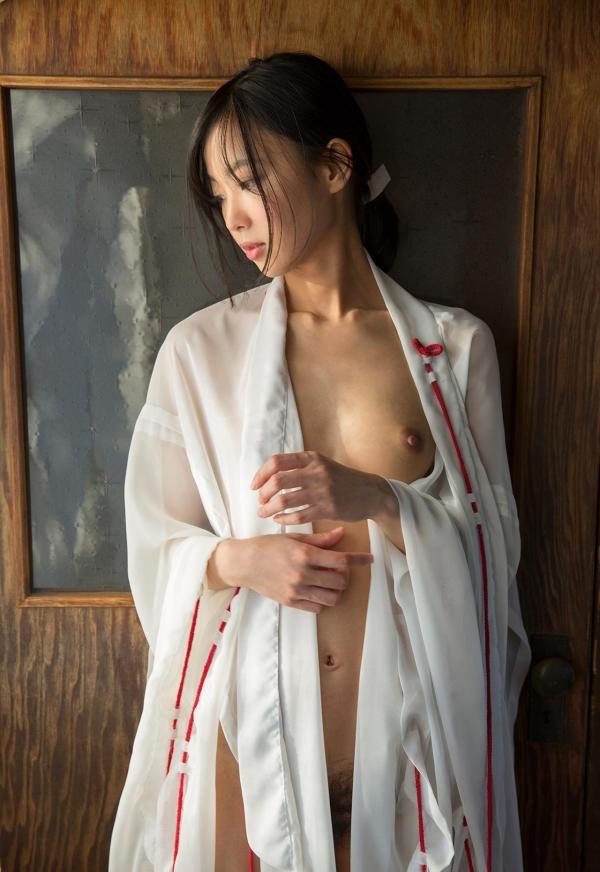 竹田ゆめ かわいい巫女さん清純美少女ヌード画像のa018番