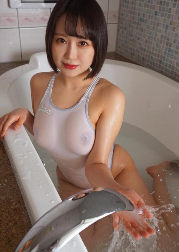爆乳むっちり 月本愛 透け水着ヌード画像100枚の029枚目