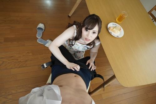 [VR] 裸エプロンで朝から誘惑してくる激カワ俺嫁! 櫻木梨乃 無修正動画 カリビアンコム 63