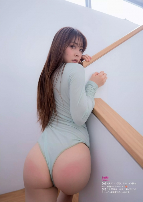 NMB48 白間美瑠『LOVE RUSH』 写真集で髪ブラ&Tバックお尻!グラドルお尻画像 129枚
