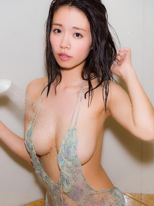 菜乃花 遅咲きのIカップグラドルが変態下着で巨乳アピール♪ 画像200枚