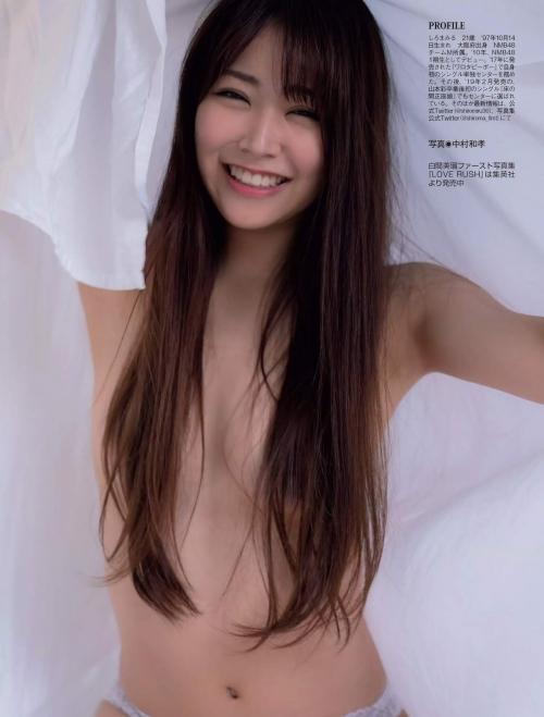 NMB48 白間美瑠 写真集『LOVE RUSH』 髪ブラ&Tバックお尻グラビア 09