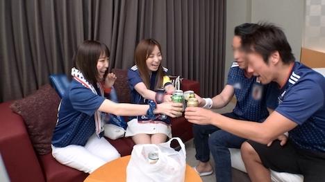 【ナンパTV】【ワールドカップ観戦ナンパ!】サッカー日本代表、初戦勝利の熱狂にかこつけて、観戦に訪れたモデル級美女サポーター2人に声をかけ、ホテルで美酒に酔い、興奮冷めやらぬまま、激イキ絶頂4P乱交セックス! はるら 22歳 アパレル大手企業のパタンナー : みれい 22歳 アパレル大手企業の商品管理 3