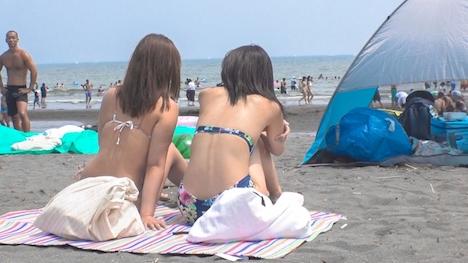 【ナンパTV】【パリピ水着ギャル・海ナンパ!】真夏のビーチでGETした開放感MAXのビキニGAL2人組!言葉巧みにホテルに連れ込んで、理性も吹っ飛ぶアツ~い本能とろけるSEX! えりな 23歳 大学4年生 ※1浪:祐奈 20歳 大学2年生 2