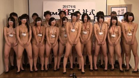 2017年度 ソフト・オン・デマンド入社式 新卒女子10名の全裸くっぱぁ決意表明 入社初日から同期の前で公開挿入!羞恥過激な新入社員研修編