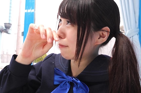 【SODマジックミラー号】えりか(18)女子◯生 マジックミラー号 初めてのおちんちん研究!かわいいお顔にぶっかけ! 16