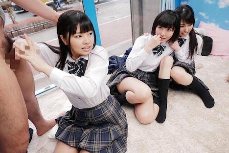 【SODマジックミラー号】みよ(18)、あいり(18)きこ(18)女子◯生 マジックミラー号 初めての6P体験! 8