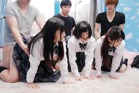 【SODマジックミラー号】みよ(18)、あいり(18)きこ(18)女子◯生 マジックミラー号 初めての6P体験! 14