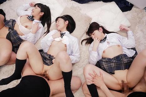 【SODマジックミラー号】みよ(18)、あいり(18)きこ(18)女子◯生 マジックミラー号 初めての6P体験! 16