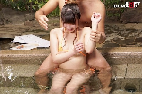 温泉街で見つけた初対面の男女が「裸よりも恥ずかしい水着で混浴体験!!」きわどい相互マッサージをやらされ気分が高まる即席ペアは理性を保てるのか?! 姫乃はる