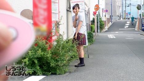 【しろうとまんまん】ももこ 女子校生 (J〇ノーブラとびっこ散歩) 2