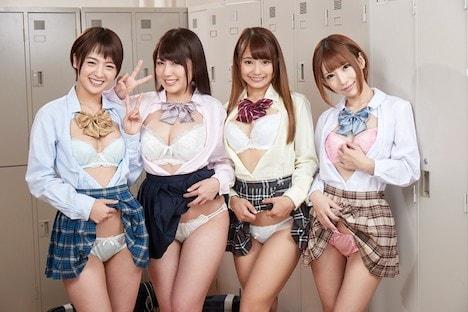 【VR】長尺VR 学園のアイドル四天王を盗撮からの生中出しSEX!!夢のハーレム性活