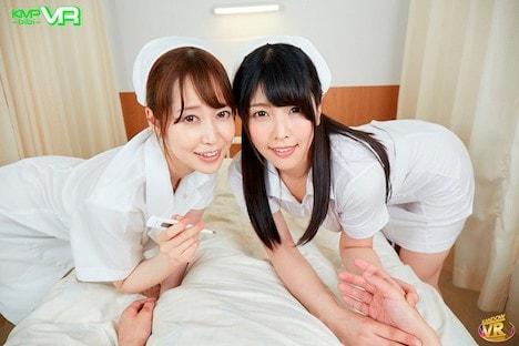 【VR】長尺VR 僕の担当ナースたちは超欲求不満!「調子はどう…?」と個室に診にきては溜まったち●ぽを優しく治療してくれる。エロすぎるベテラン看護師とムッツリ新人看護師、それぞれのピンSEX&2人同時での看病SEXありで中出し三昧の入院性活!