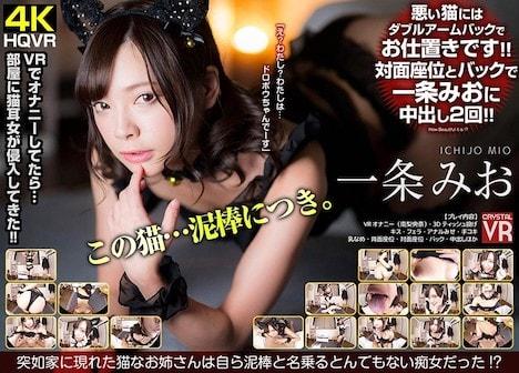 【VR】一条みお 突如家に現れた猫なお姉さんは自ら泥棒と名乗るとんでもない痴女だった!?