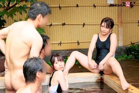 箱根温泉で見つけた修学旅行中の学生さん 2人組でスク水 ブルマ セーラー服に着替えて男湯入ってみませんか? タオル一枚 男湯入ってみませんか?スピンオフスペシャル!! 持田栞里