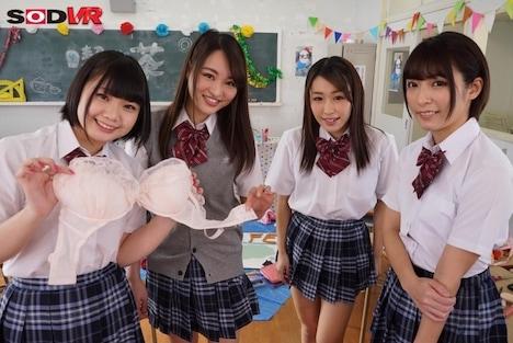 【VR】HQ超高画質 【文化祭で女装体験VR】 松田美子化粧をしてもらい服を着せ替えられ女子に囲まれ『カワイイッ!』って言われチヤホヤ!さらに!片思いの美子ちゃんと二人きりになって、こっそり青春H!みんながいない間に座位で!バックで!正常位で!ナカダシ! 4