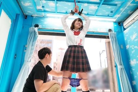 【SODマジックミラー号】はるか ボーイッシュ女子〇生初めての拘束おもちゃ体験! 5