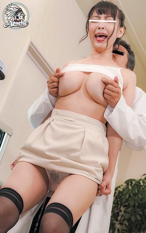 巨乳若妻 健康診断乳首こねくり回し中出しチカン ましろ杏