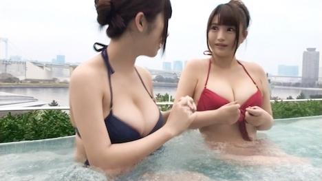 【黒船】【スパプールナンパ】神乳Jカップ受付嬢!!23歳同期入社の爆乳ビキニ娘とギャラ飲みパーティ☆いのりちゃん 2