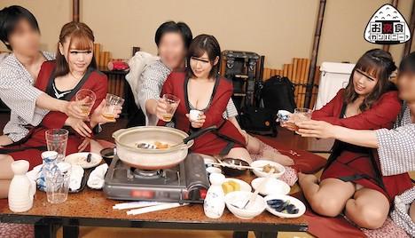 某温泉旅館でヤレると噂のピンクコンパニオンを呼んでみた!想像以上にレベルの高い女の子たちがやって来た…。話も上手で楽しくお酒を飲んで…