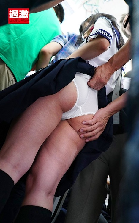 チカン師に満員電車の中で下着姿にされ見られる羞恥で抵抗できない敏感女 有栖るる